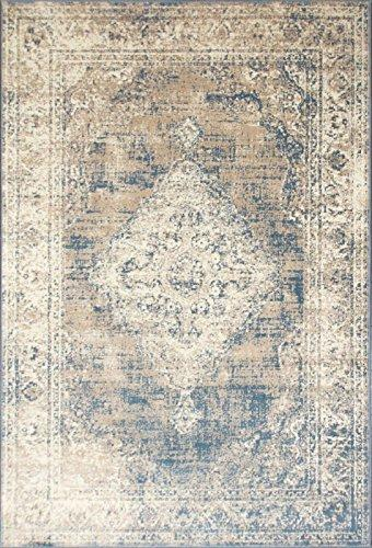 A2Z Rug Vintage Traditional Santorini Collection Blue 120x170 cm - 4x6 ft Area Rugs