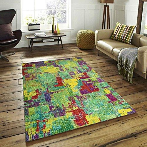 A2Z Rug Modern Colourful Contemporary Design Area Rugs Rio Collection 5677, Multi 240x330 cm - 8'x11' ft