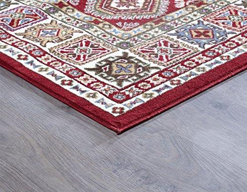 "A2Z Rug Traditional Qashqai 5577 Stylish Collection Area Rugs, Red 120x170 cm - 3'9""x5'5"" ft"