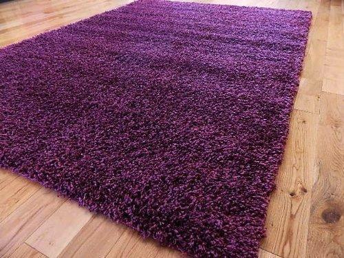 EXTRA LARGE PURPLE MEDIUM NEW MODERN SOFT THICK SHAGGY RUGS NON SHED RUNNER MATS 120 X 170 CM (4 FT X 5 FT 7)FREE UK MAINLAND DELIVERY by RUGS 4 HOME