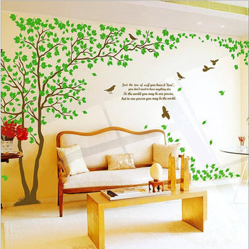WallStickersDecal Giant Green Tree Wall Decal Sticker pair 170cm 6 ways to apply (H)