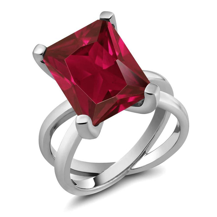 Adalene Octagon Ruby Ring
