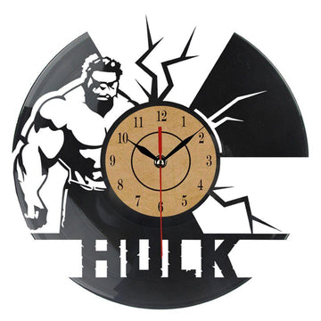 Hulk Vinyl Record Wall Clock