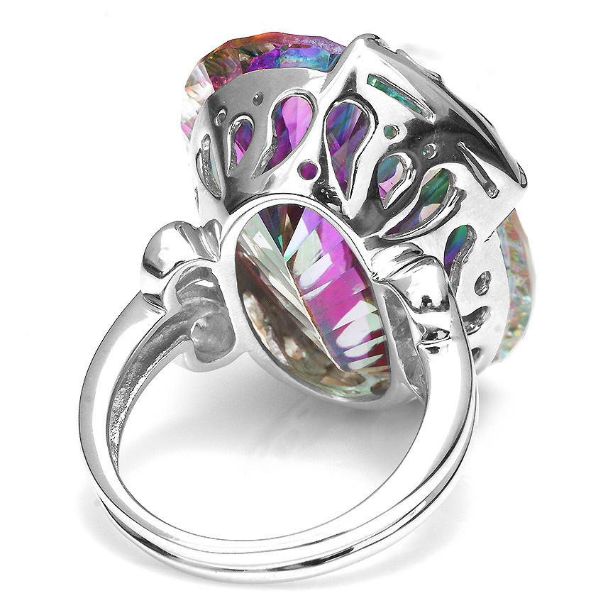 Baylee Mystic Fire Topaz Ring