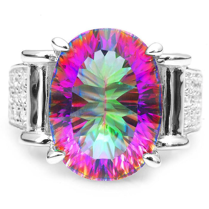 rainbow sterling products mystic jewelry vintage for rings luxury jewelrypalace fire natural topaz silver cocktail women ring