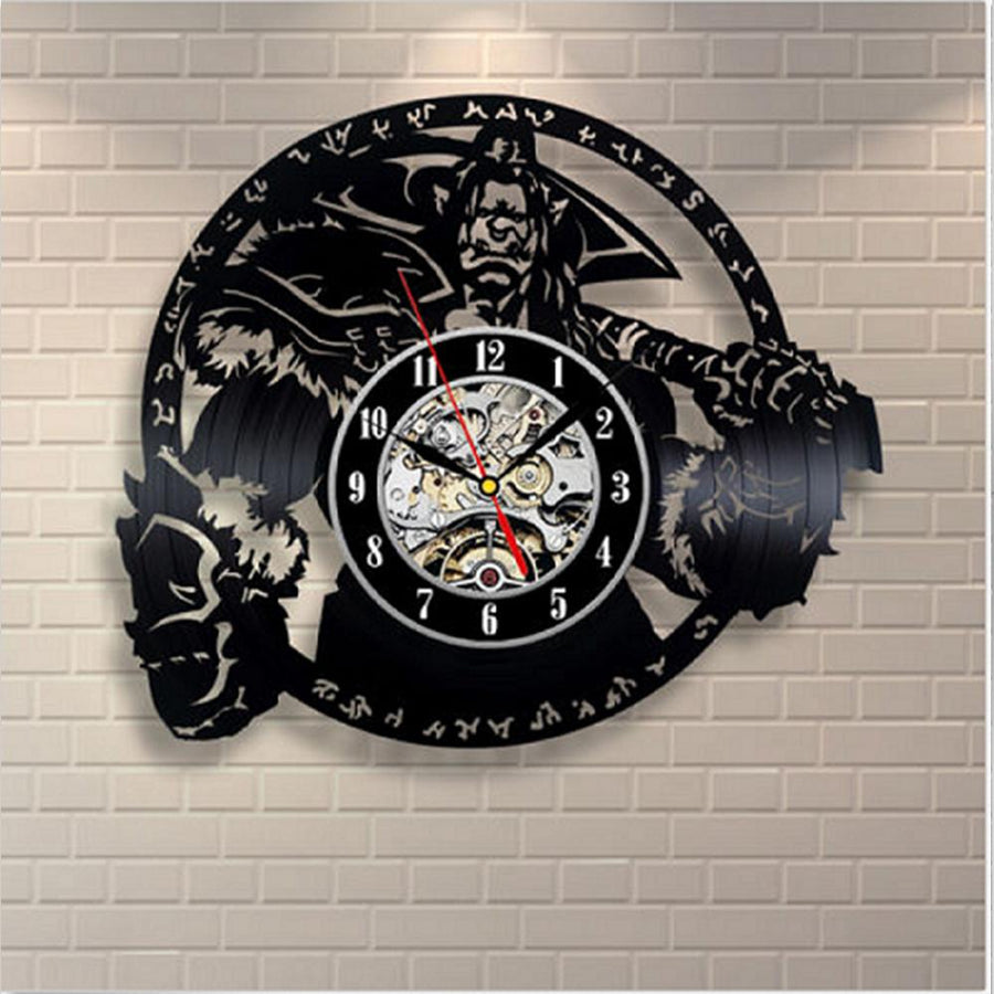 Black Vinyl Antique Art Wall Clock