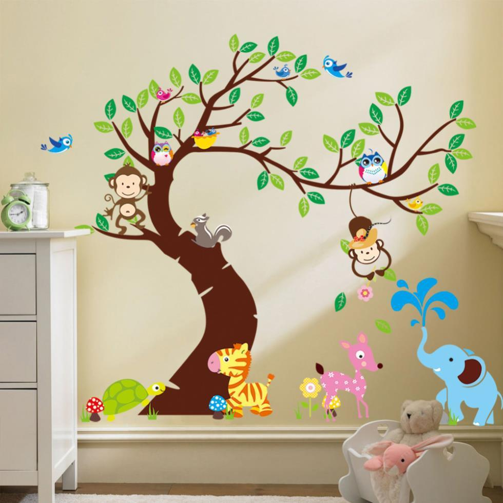 Safari Jungle & Tree Nursery Wall Stickers