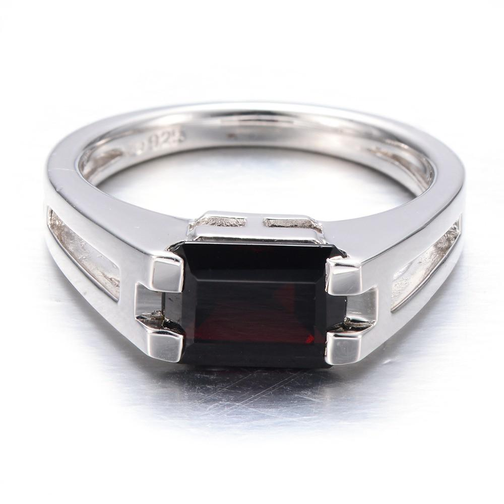Diana Emerald Cut Black Garnet Ring