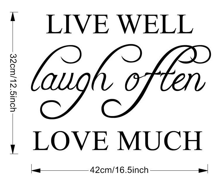 Live Well Love Much Wall Sticker