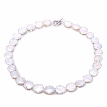 Ai Large Coin Pearl Necklace