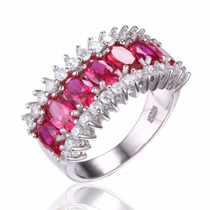 Adilene Oval Ruby & Zirconia Ring