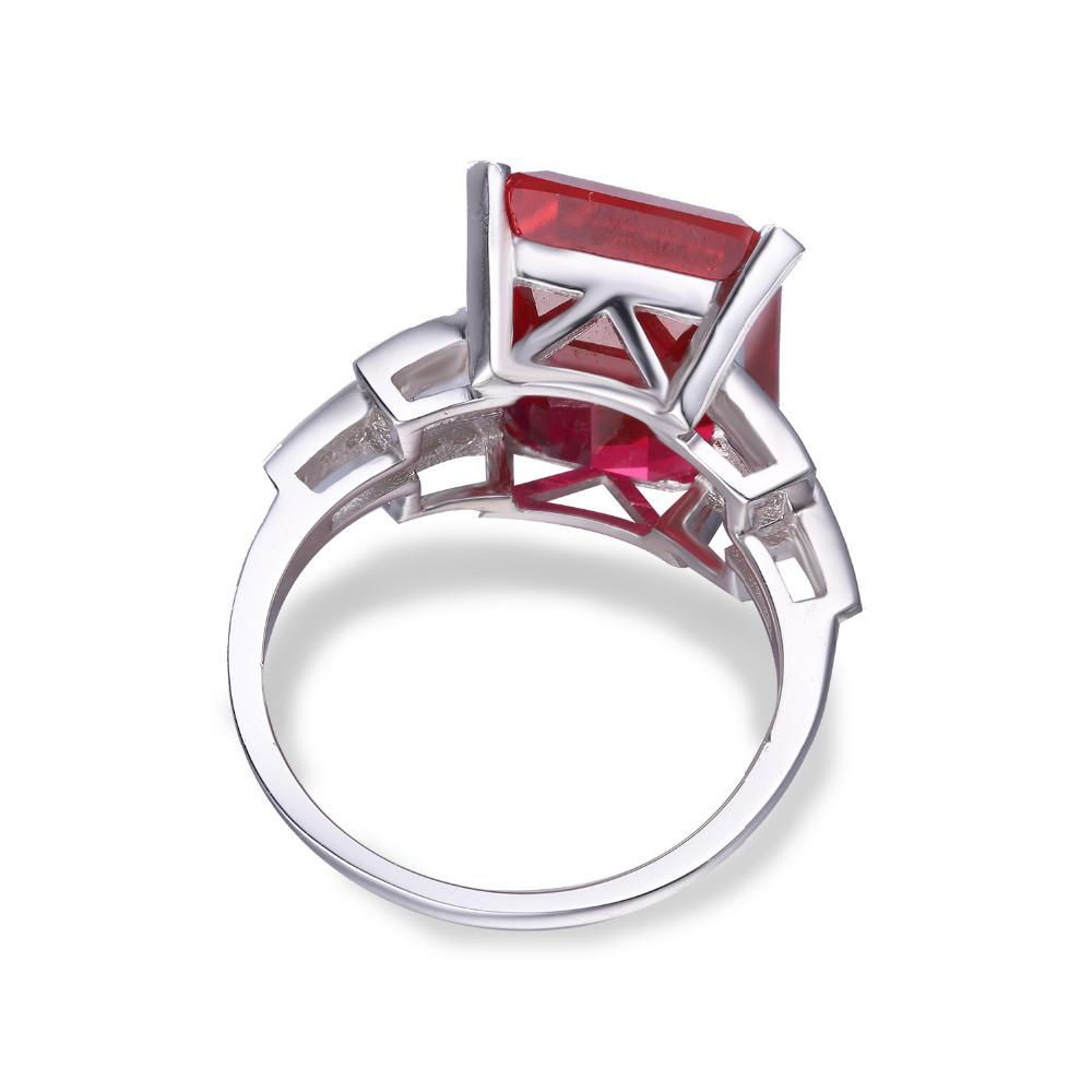 Adrianna Emerald Cut Ruby Ring