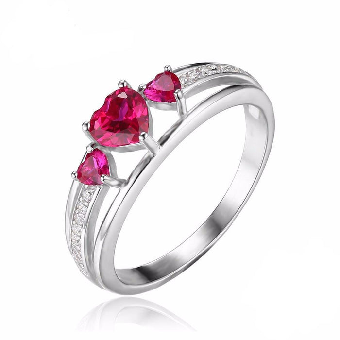 Adreanna Heart Ruby Ring