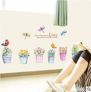 Secret Garden Love Wall Stickers