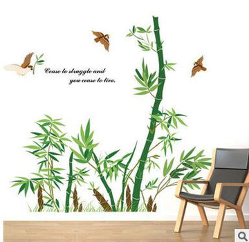 Rural Bamboo Forest Wall Stickers