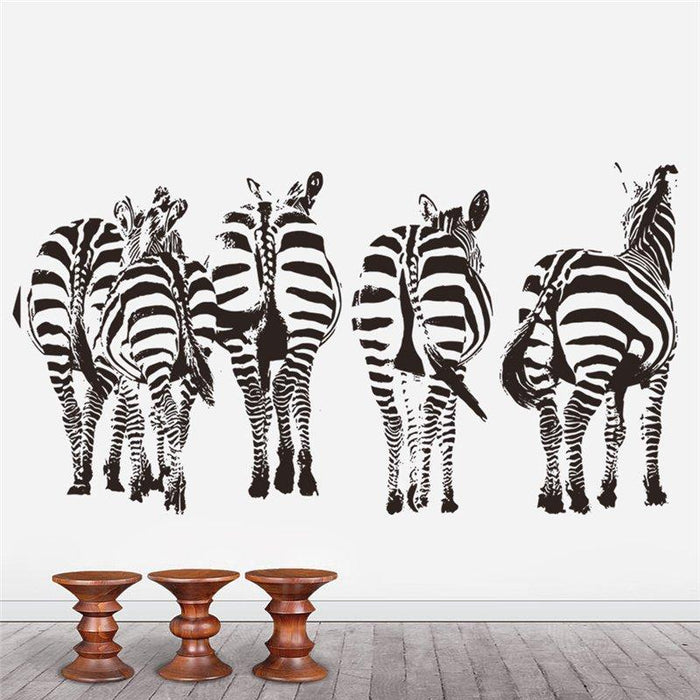 Zebras Living Bedroom Wall Stickers