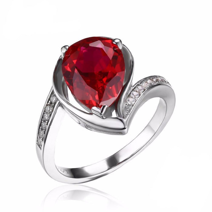 Adelynn Water Drop Ruby Ring