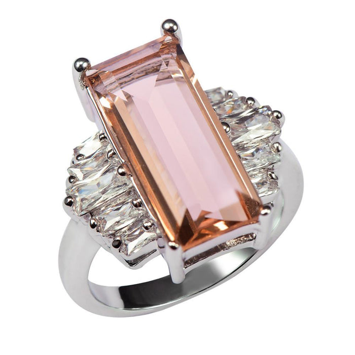 Vasilisa Rectangular Morganite Ring