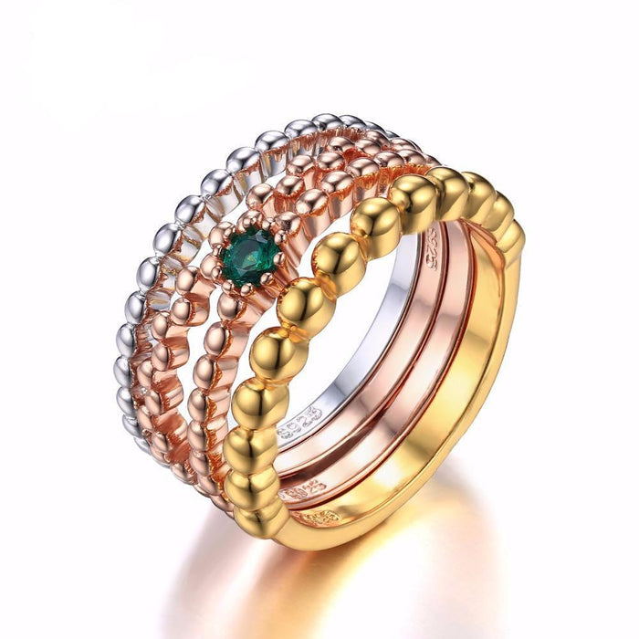 Algernon Round Emerald Ring