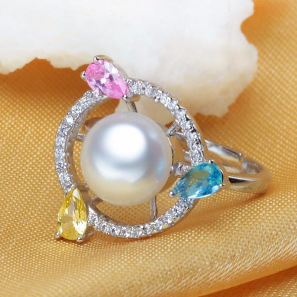 Gina Round Pearl & Gem Ring