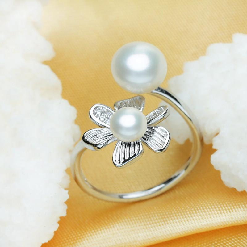 Hanako Round Flower Pearl Ring