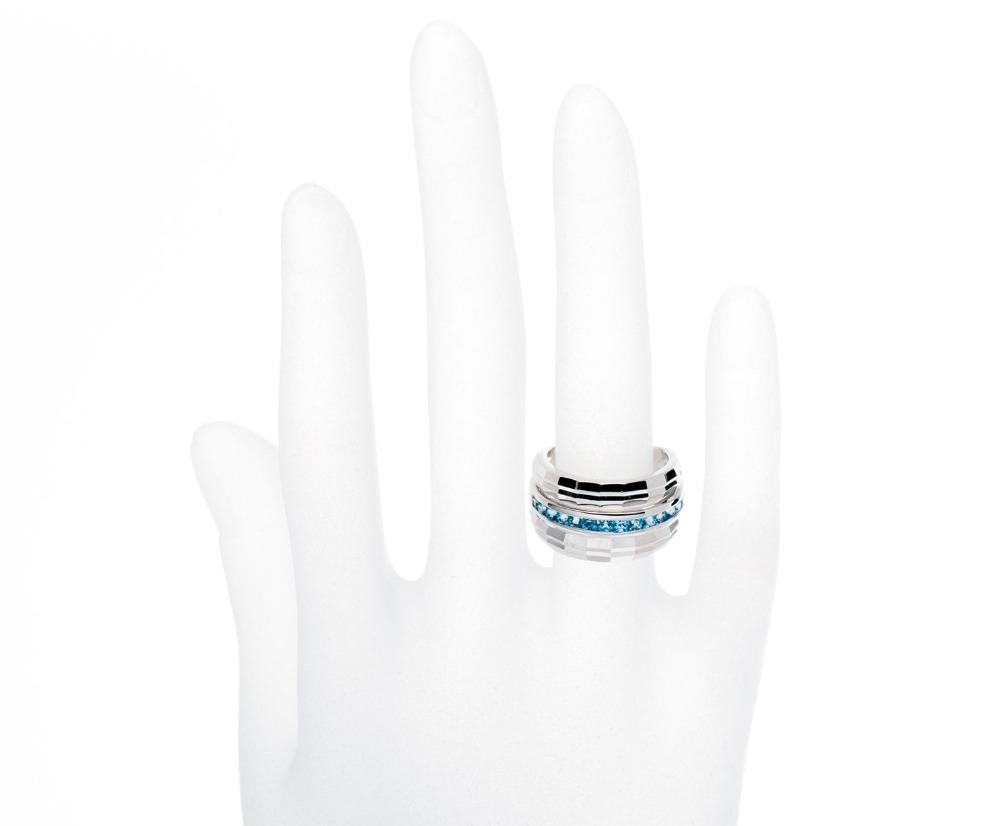 Bernadette Blue Princess Topaz Ring