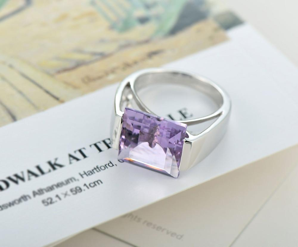 Orte Square Amethyst Ring