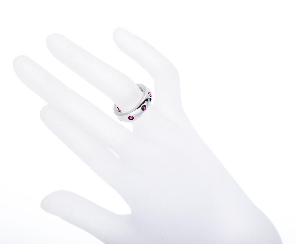 Nelly Round Red Garnet Ring