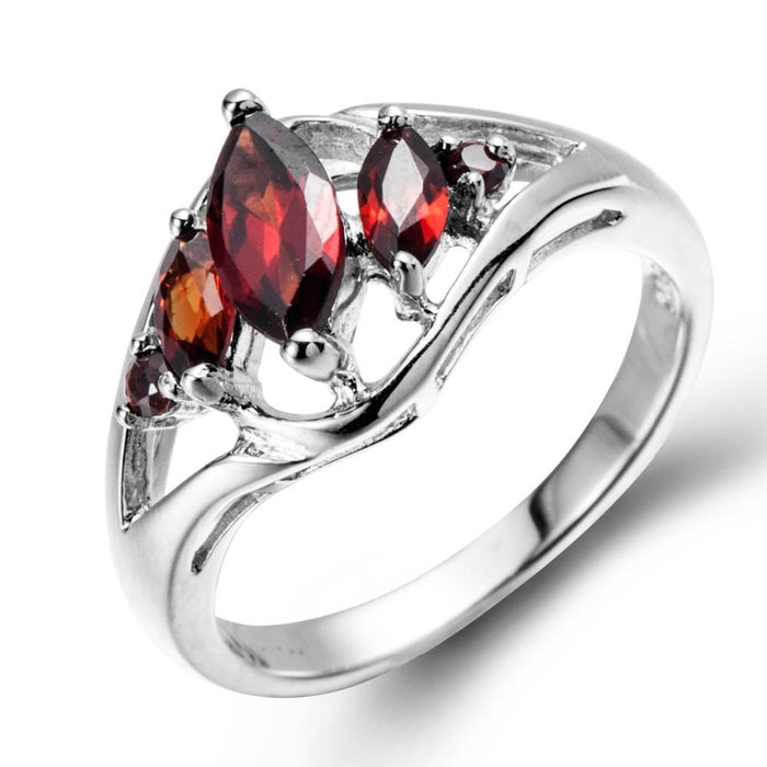 Polina Marquise Red Garnet Ring