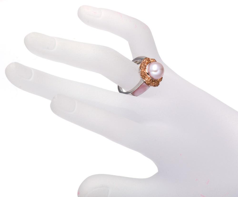 Hisa Round Pearl & Mother of Pearl Ring