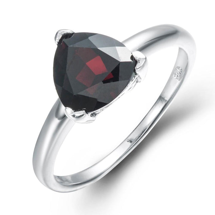 Raisa Triangle Black Garnet Ring