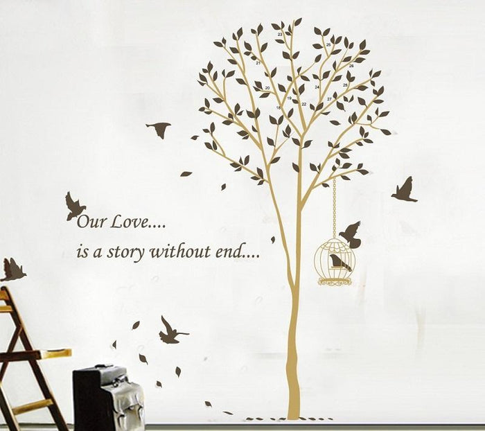 Our Love Tree Bird Wall Sticker
