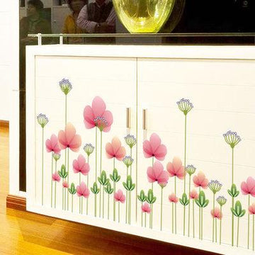 Flower Fence Foot Line Kitchen Wall Stickers