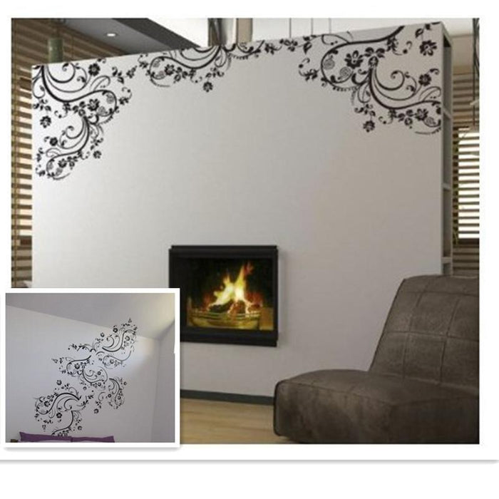 Elegant Flower Vine Wall Sticker