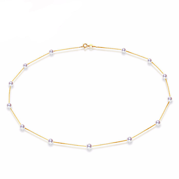 Chunhua Yellow Gold Akoya Pearl Necklace