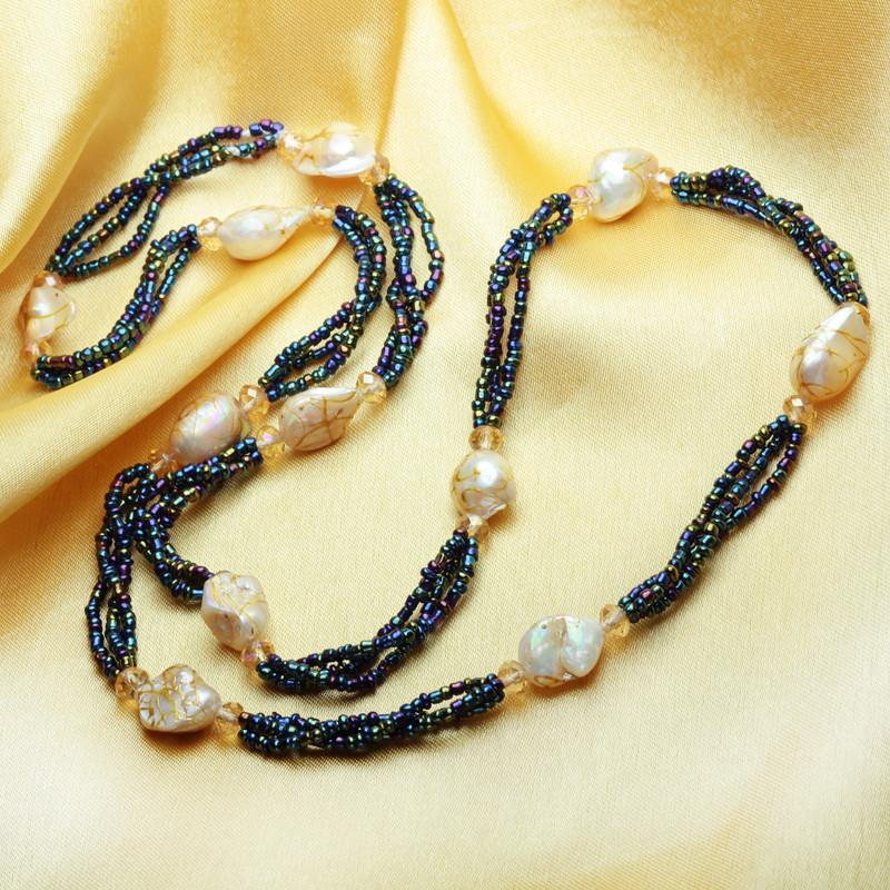 Hualing Bohemian Baroque Pearl Necklace