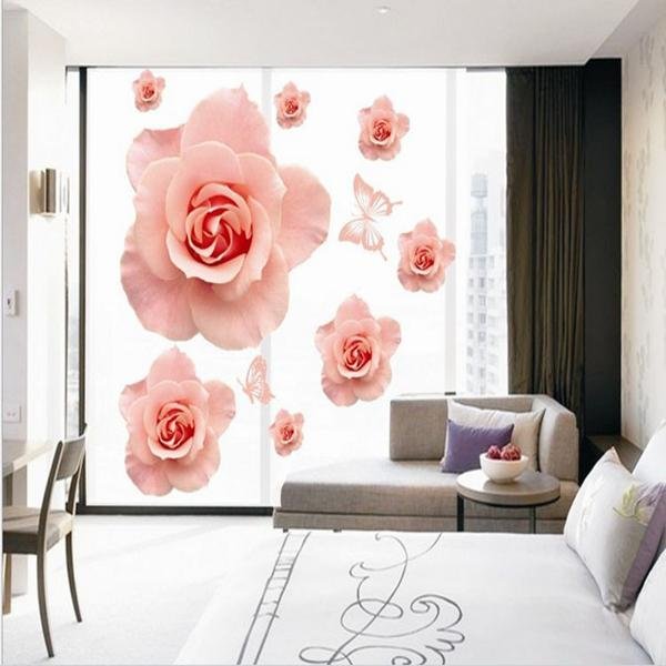 Romantic Rose Bedroom Wall Stickers