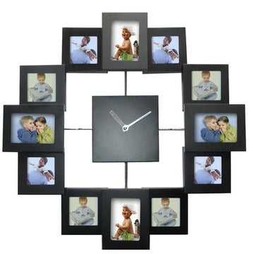 European Style Photo Frame Wall Clock