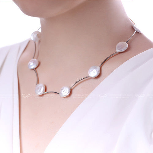 Chuntao Fastion Coin Pearl Necklace