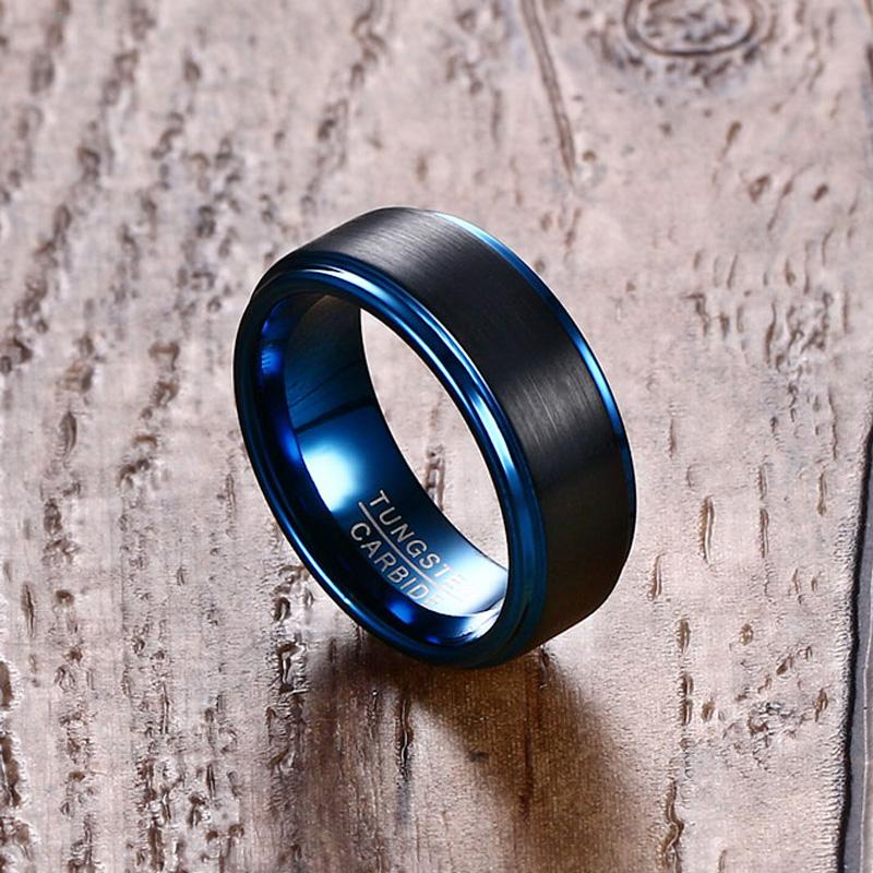 Classic Blue Tungsten Ring