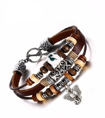 Beaded Classic Leather Bracelet