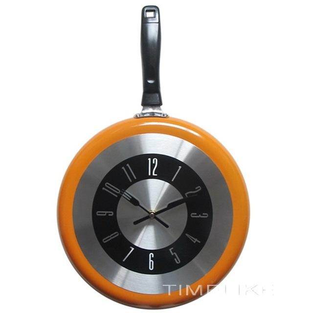Modern Kitchen Frying Pan Wall Clock