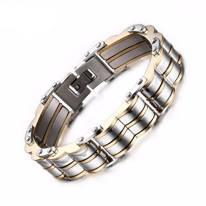 Heavy Chain Cuff Men's Metal Bracelet