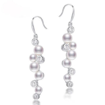 Charline White Pearl Drop Earring