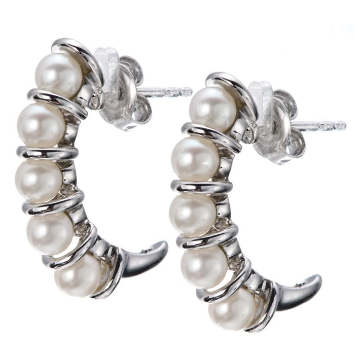 Claribel White Pearl Earring