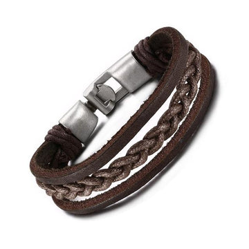Brown Rustic Leather Bracelet