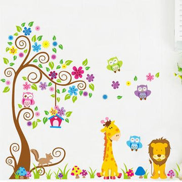 Kindergarten Flower Tree Wall Stickers