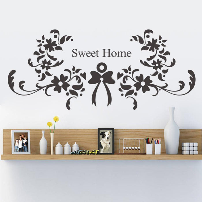 Flower Sweet Home Wall Stickers
