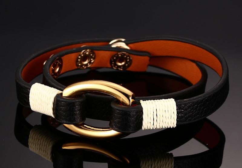 Anchor Cuff Leather Bracelet