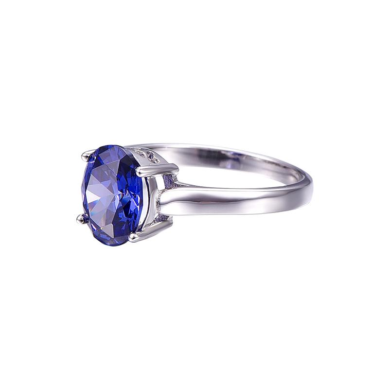 Belle Blue Oval Topaz Ring